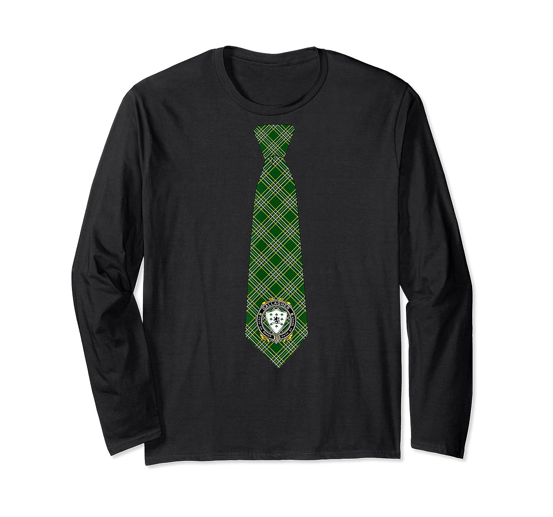 Gallagher O Gallagher Irish Necktie W Irish National Tartan T Shirt Long Sleeve T-shirt