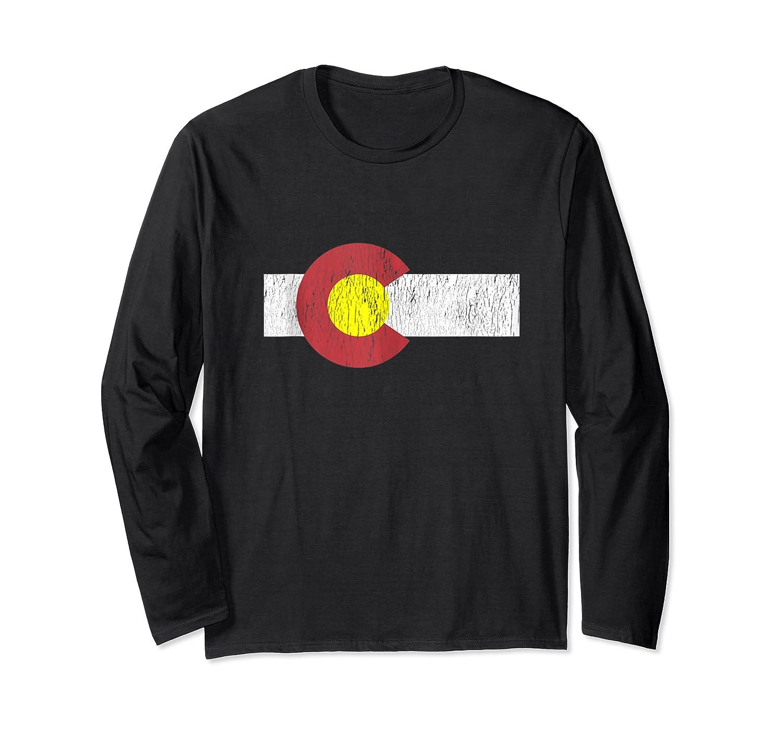 Colorado Flag Vintage Retro Distressed Gift Shirts Long Sleeve T-shirt