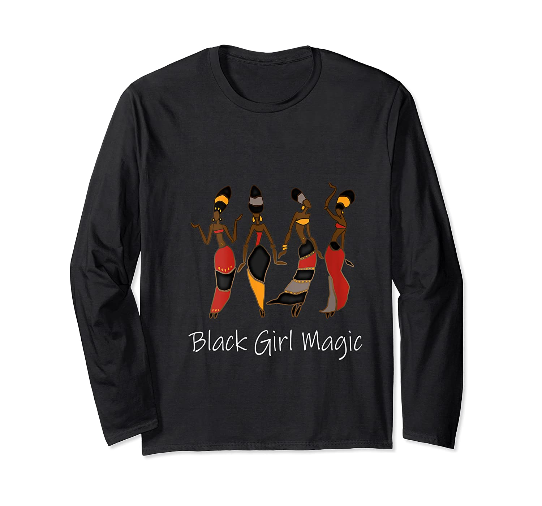 Black Girl Magic Queen Melanin African American T-shirt Long Sleeve T-shirt