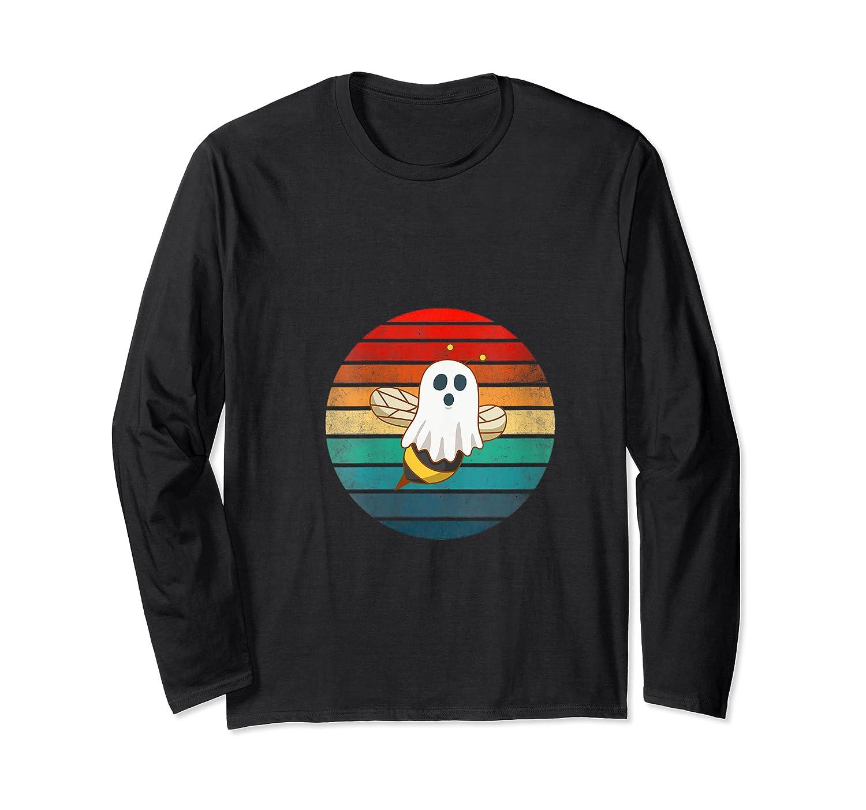 Vintage Retro Beekeeper Halloween Boo Bee Gift Shirts Long Sleeve T-shirt