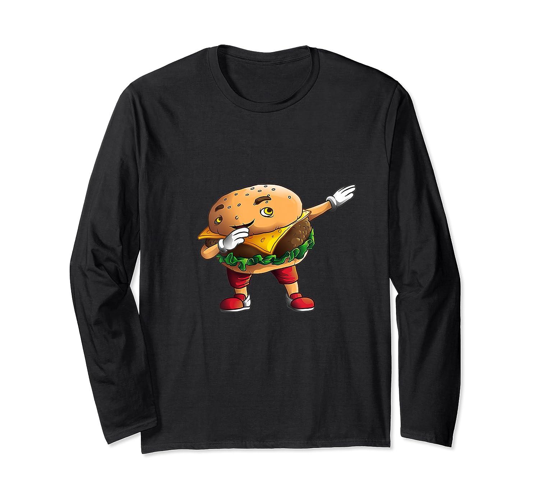 Cool Dabbing Burger Funny Street Dancer Hamburger Lover Gift T Shirt Long Sleeve T-shirt