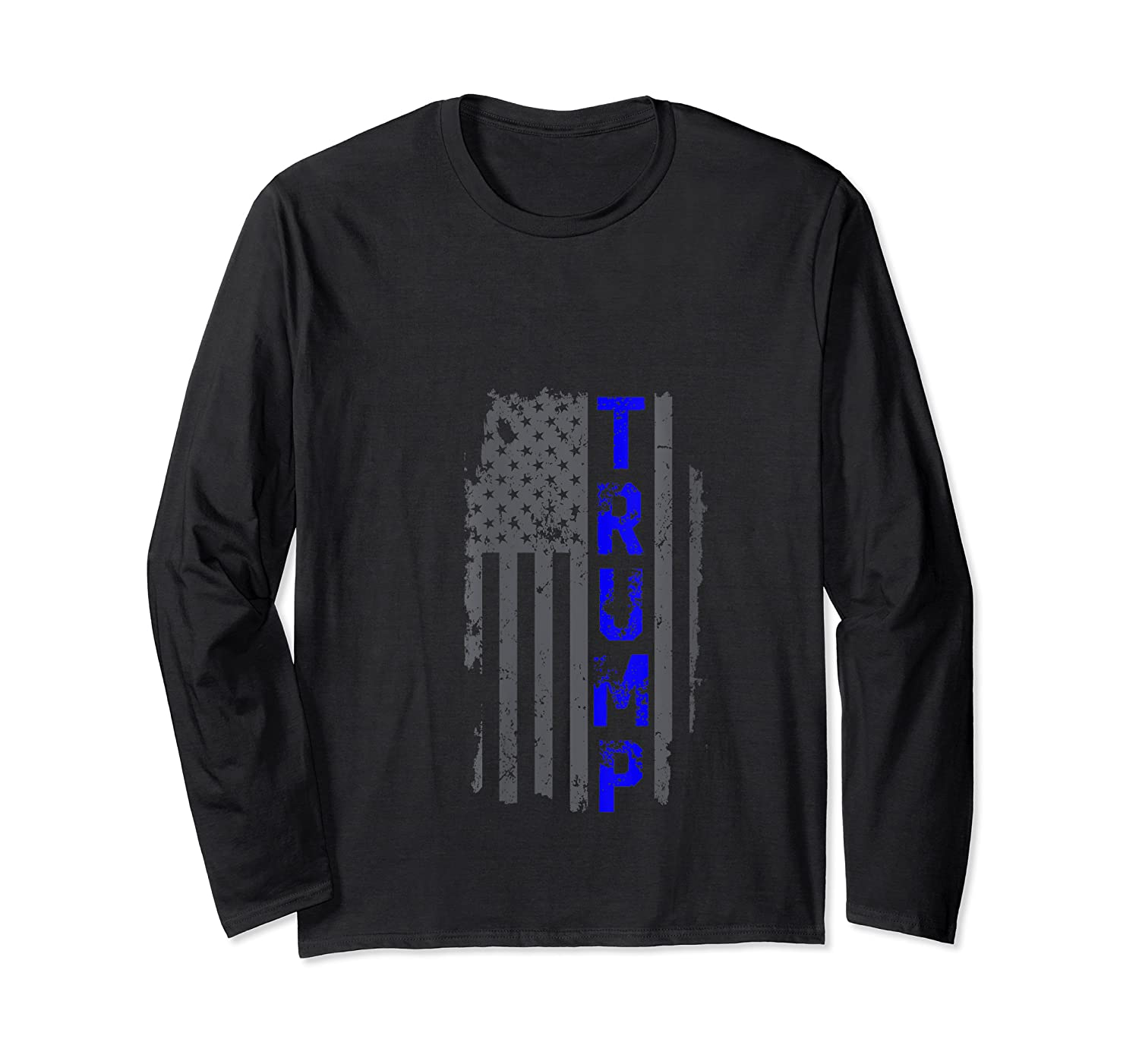 Thin Blue Line Police Officer Election 2020 Donald Trump T-shirt Long Sleeve T-shirt
