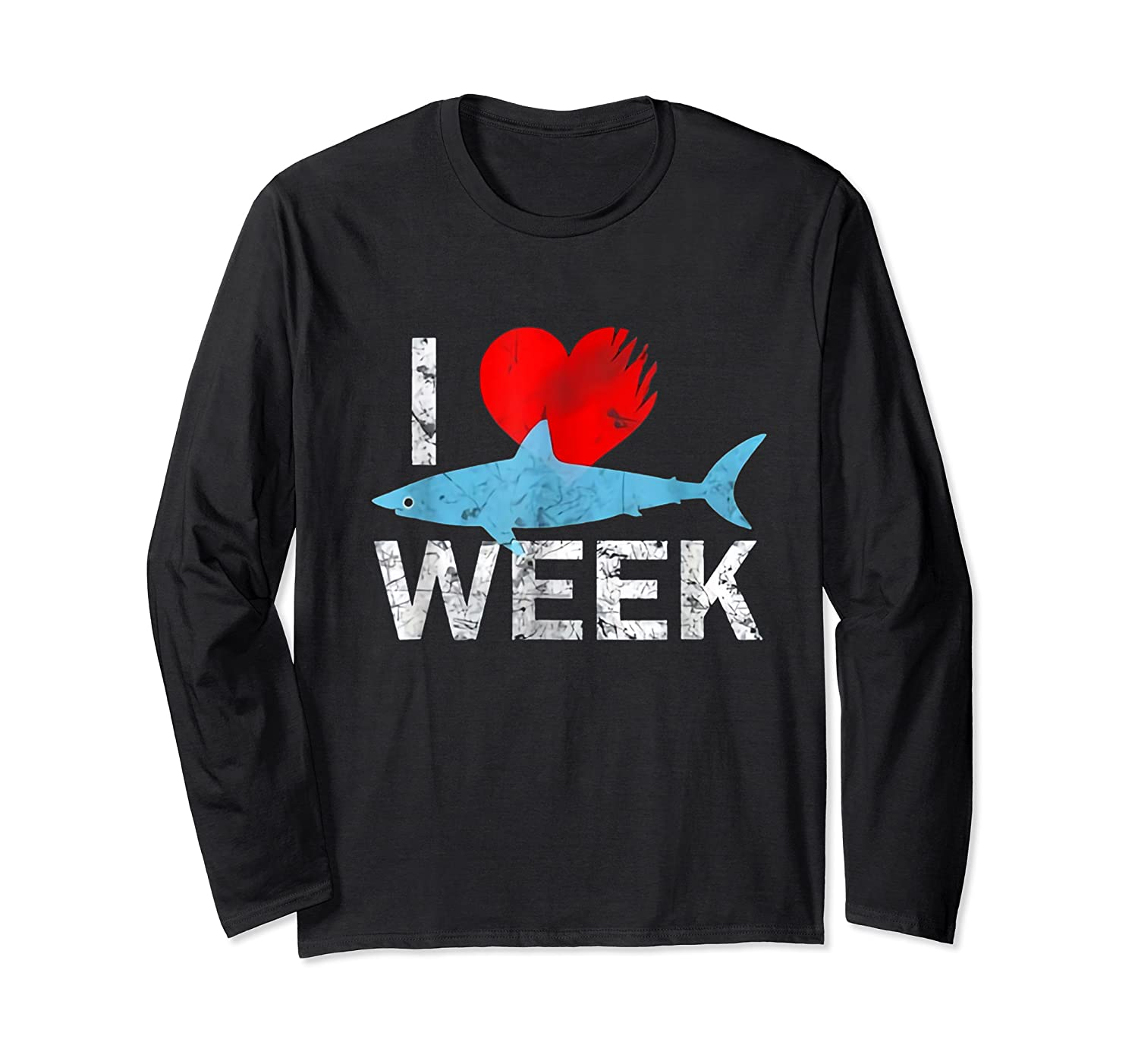 I Wait All Year For This Week T-shirt Funny Shark Tee Long Sleeve T-shirt