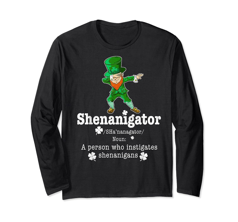 Saint Paddy S Dabbing Shenanigator St Patrick S Day T Shirt Long Sleeve T-shirt