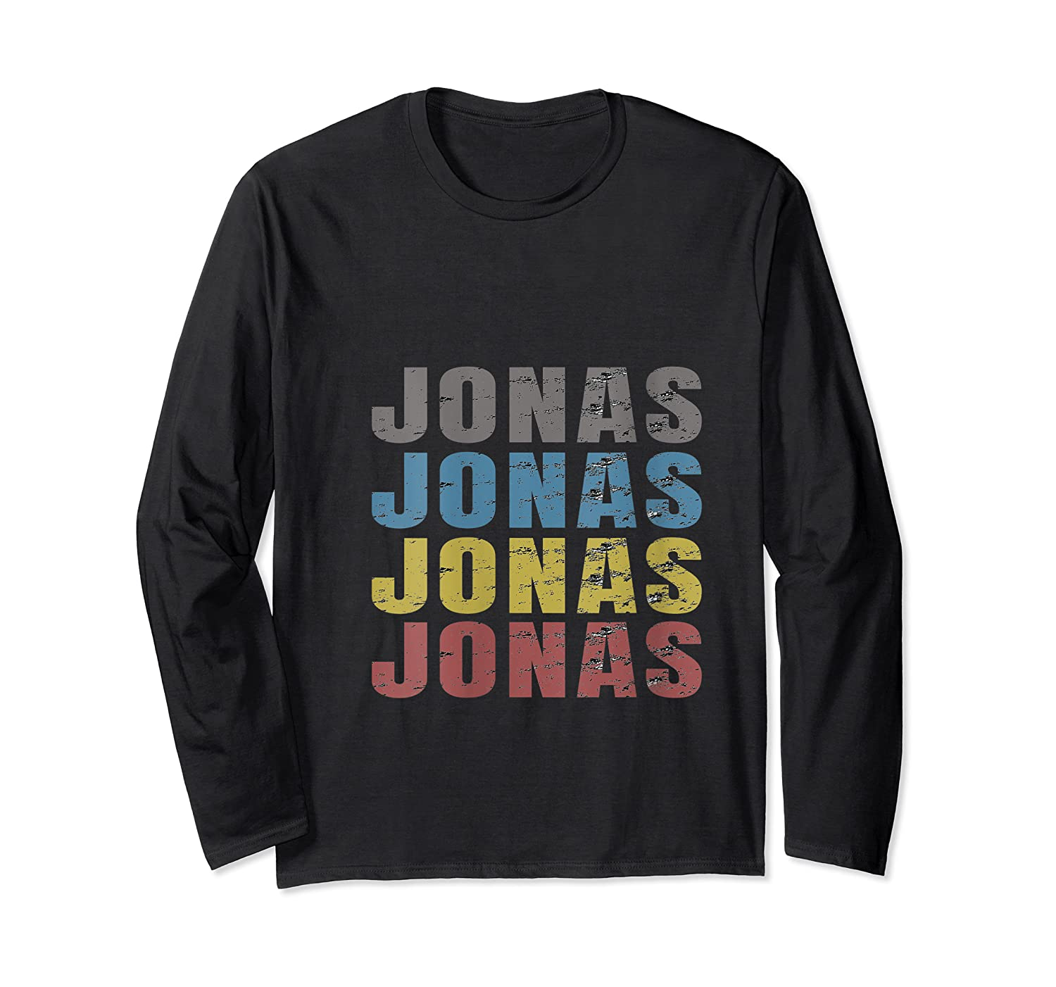Jonas First Given Name Pride Funny T Shirt Long Sleeve T-shirt