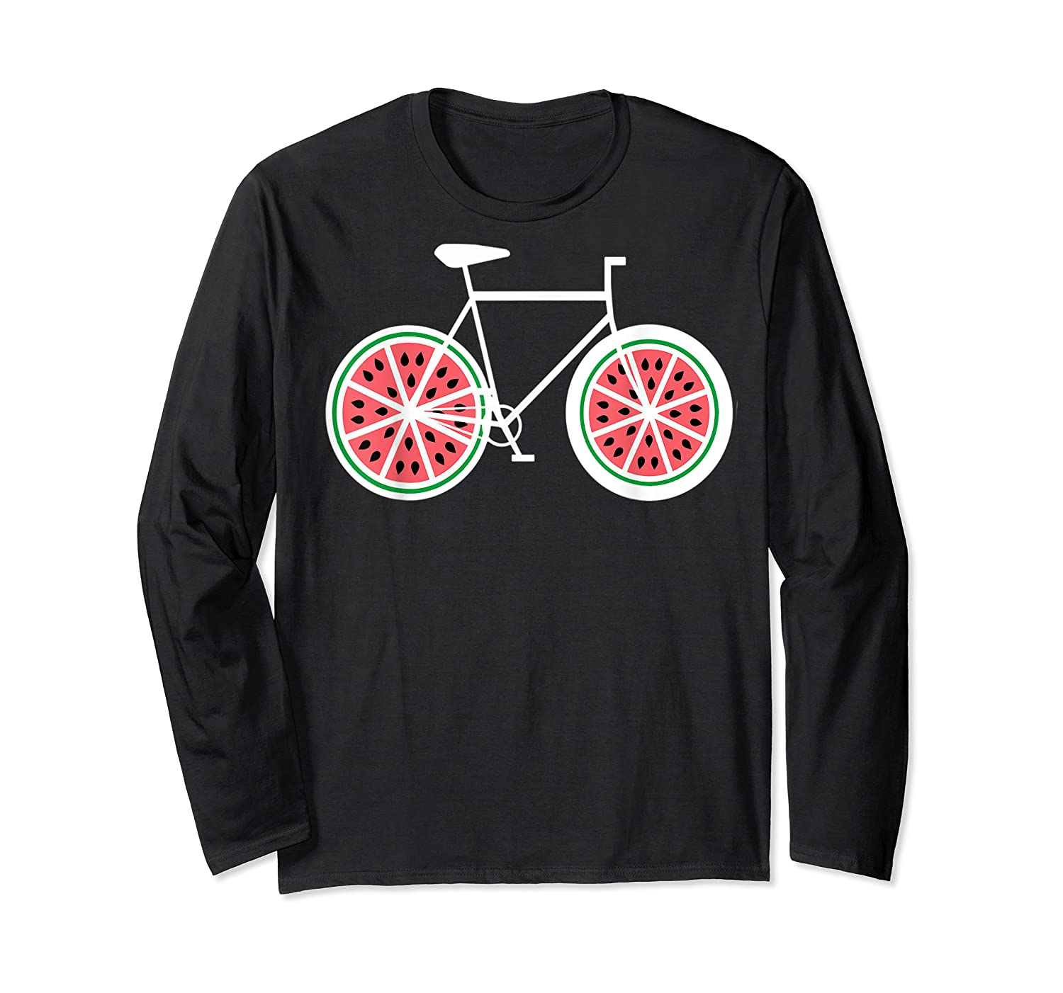 Fixie Single Speed Watermelon Bicycle T Shirt Gift Long Sleeve T-shirt