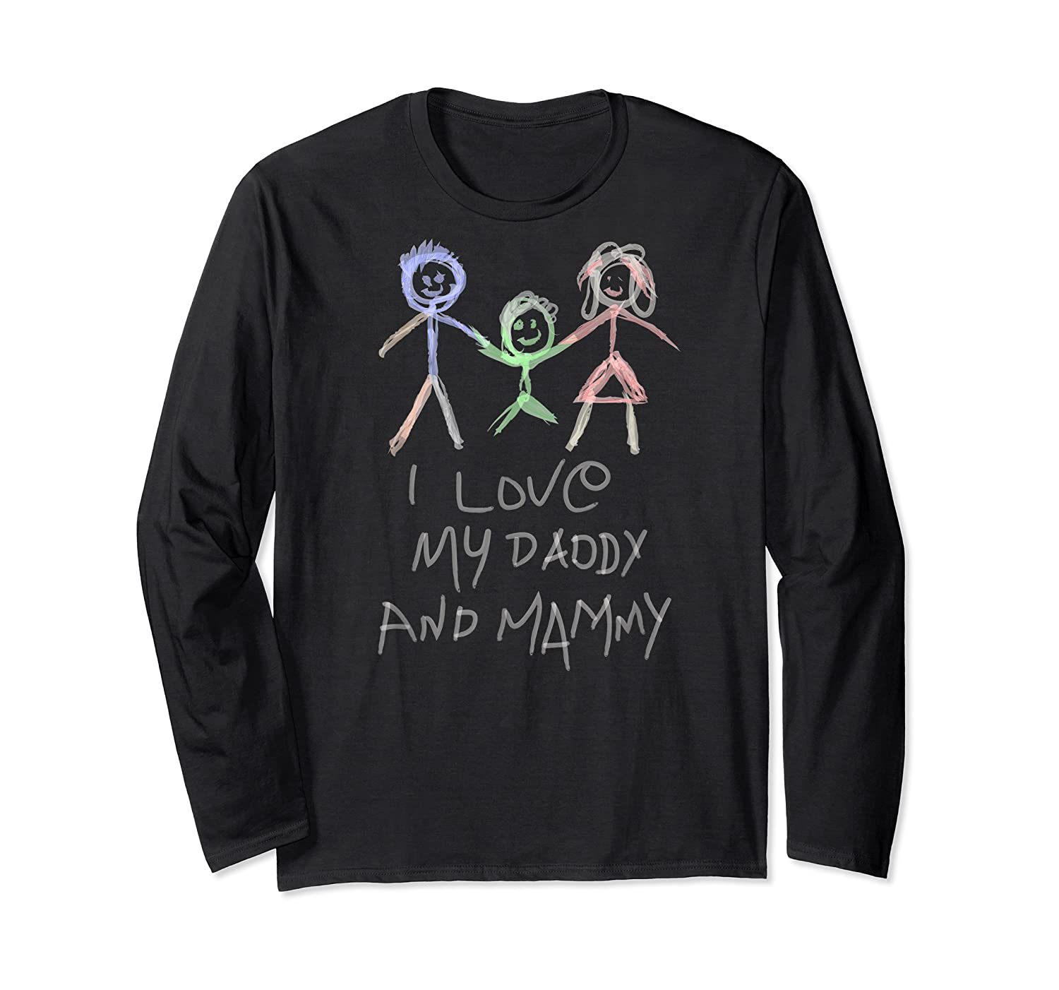 Happy Parents' Day Drawing Funny Shirts Long Sleeve T-shirt