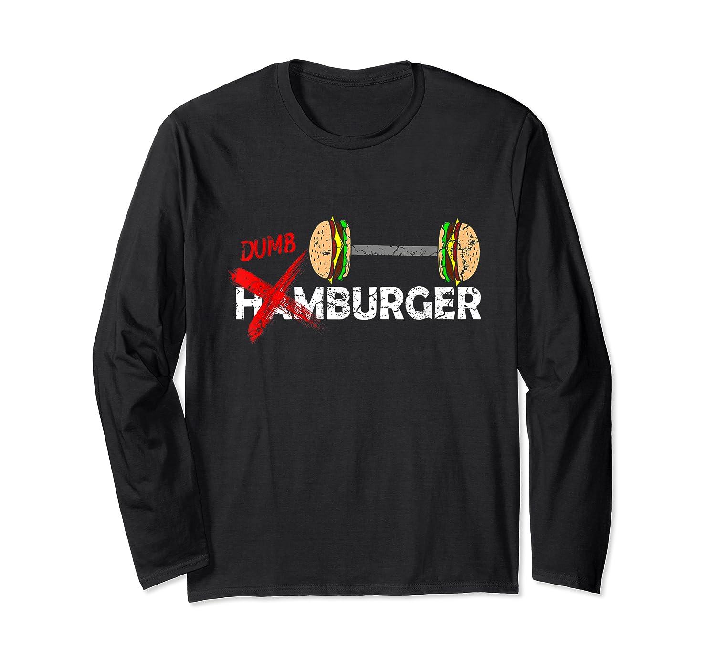 Funny Burger Tshirt Retro Hamburger Food Grill Meat Gift Tee Long Sleeve T-shirt