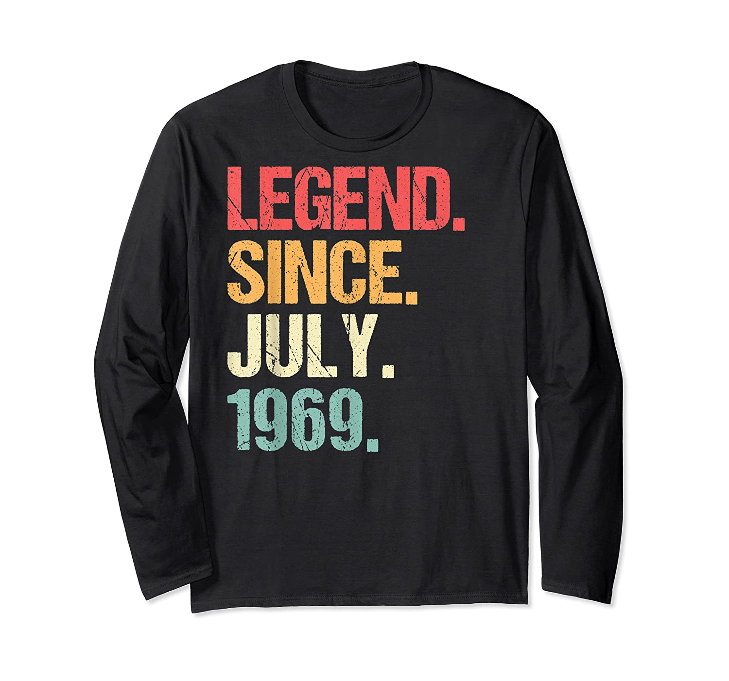 Legend Since July 1969 T Shirt Vintage 50th Birthday Gifts Long Sleeve T-shirt