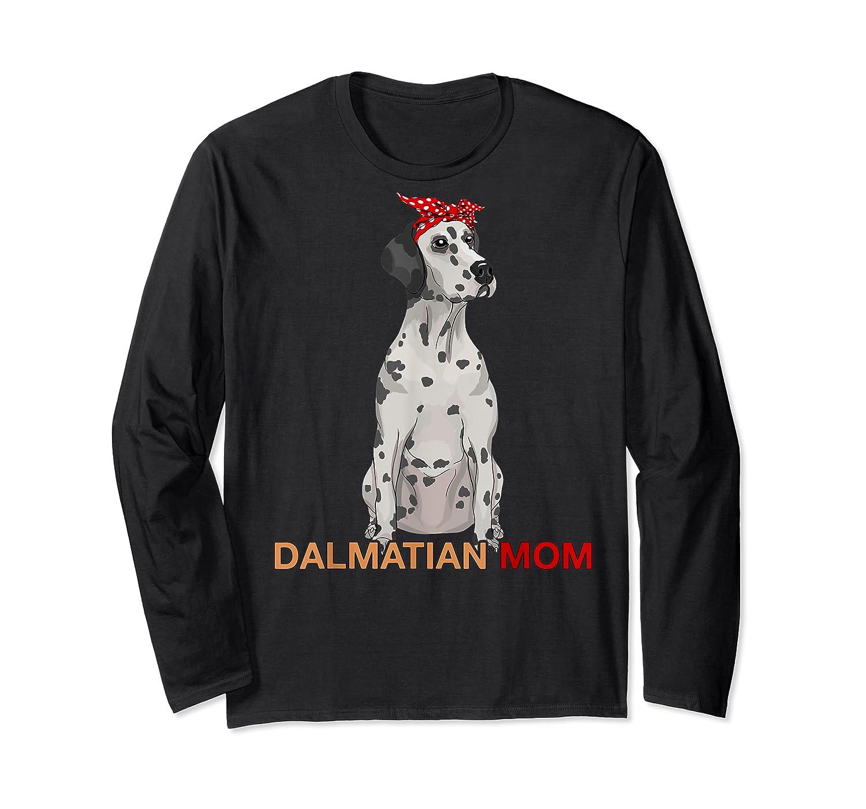 Dalmatian Mom Bandana Dalmatian Dog Lovers Gifts Shirts Long Sleeve T-shirt
