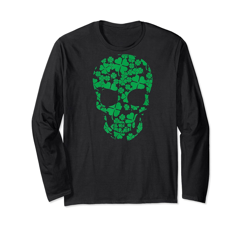 Saint Patrick S Day Shamrocks Skull T Shirt Long Sleeve T-shirt