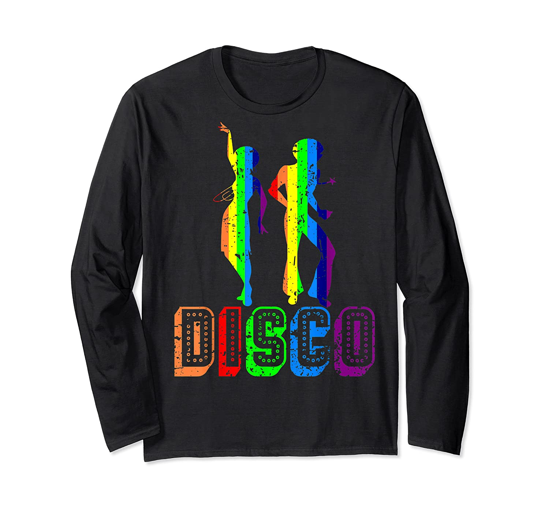 1970s Disco Dancers Vintage Rainbow 1970's Gift Shirts Long Sleeve T-shirt
