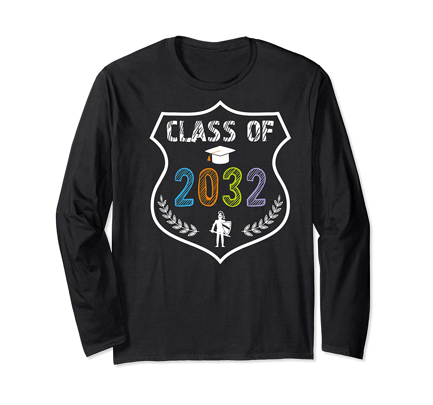 2019 Class Of 2032 Grow With Graduation First Day Of School Shirts Long Sleeve T-shirt