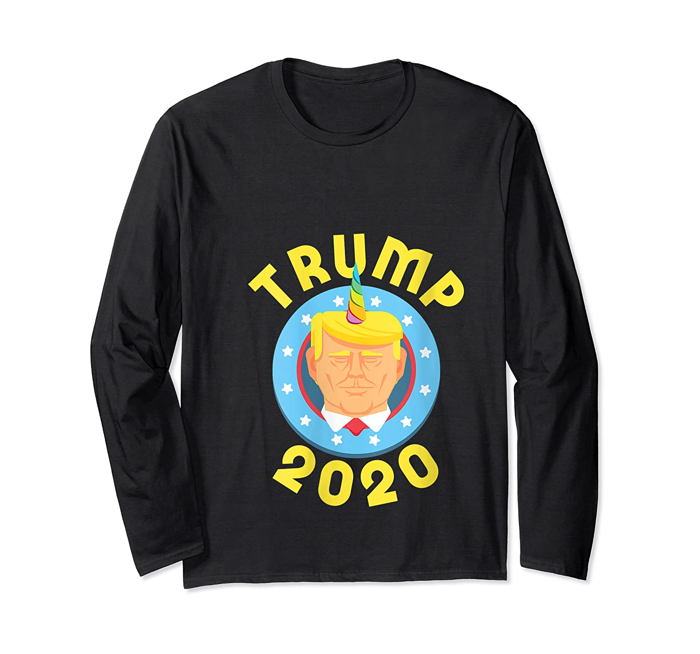 Funny Unicrontrump 2020 Election Usa Flag Republican Gift T Shirt Long Sleeve T-shirt