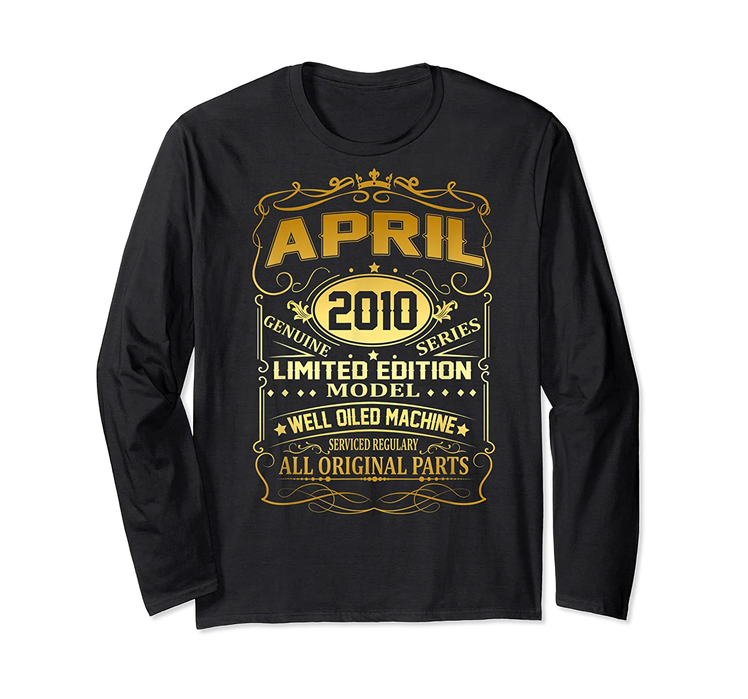 April 2010 Vintage 9th Birthday 9 Years Old Gift Shirt Long Sleeve T-shirt