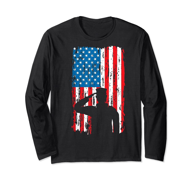 Veteran S Day Patriotic Usa Flag We Salute You Veterans T Shirt Long Sleeve T-shirt