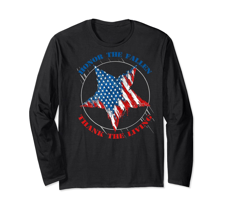 Honor The Fallen Thank The Living Veteran's Day Gift Tee Premium T-shirt Long Sleeve T-shirt