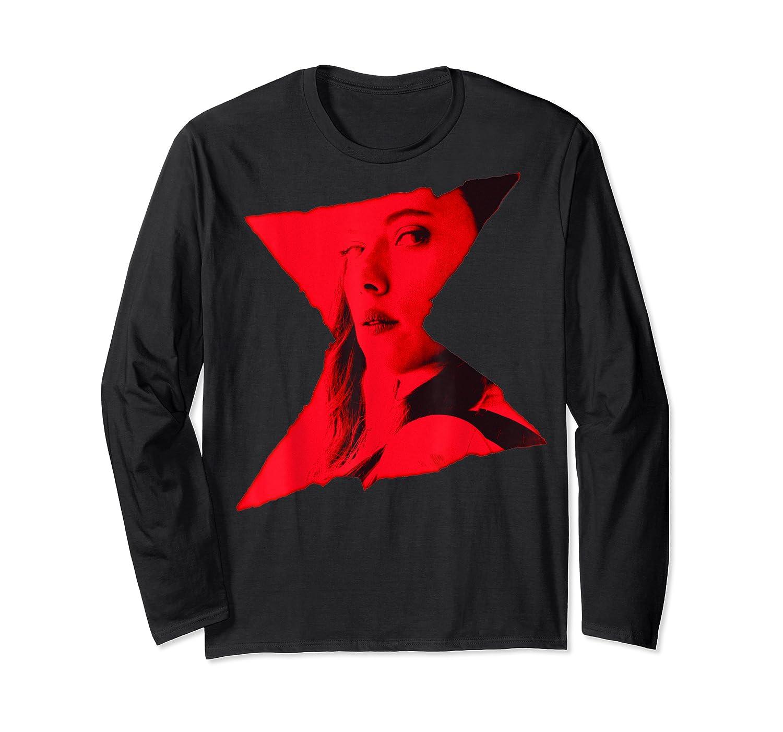 Marvel Black Widow Portrait Logo Overlay T-shirt Long Sleeve T-shirt