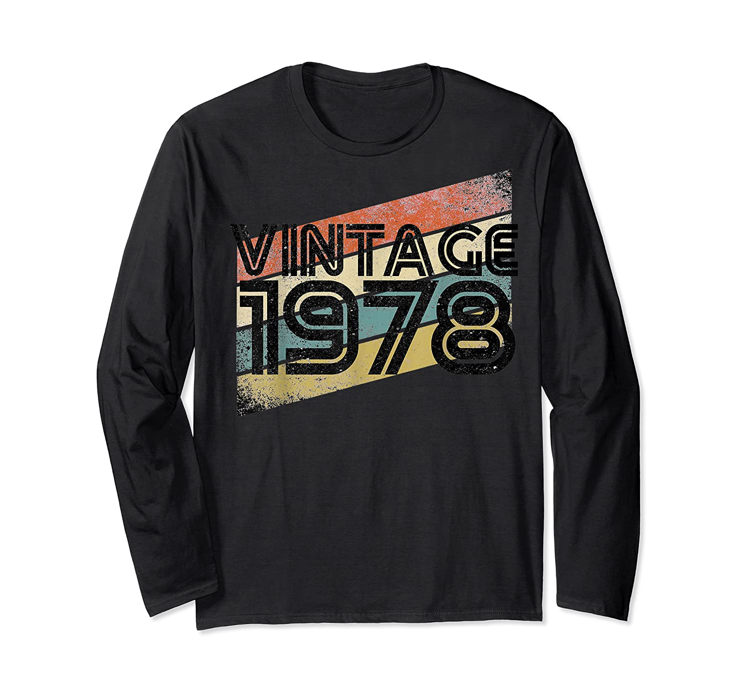 Vintage 1978 - Retro 40th T Shirt Gift 40 Yrs Years Old Long Sleeve T-shirt