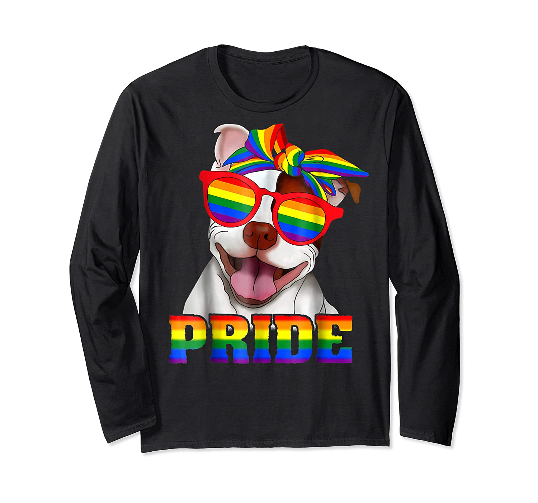 Pit Bull Pride- Gay Pride Shirt 2018 T-shirt For  Long Sleeve T-shirt