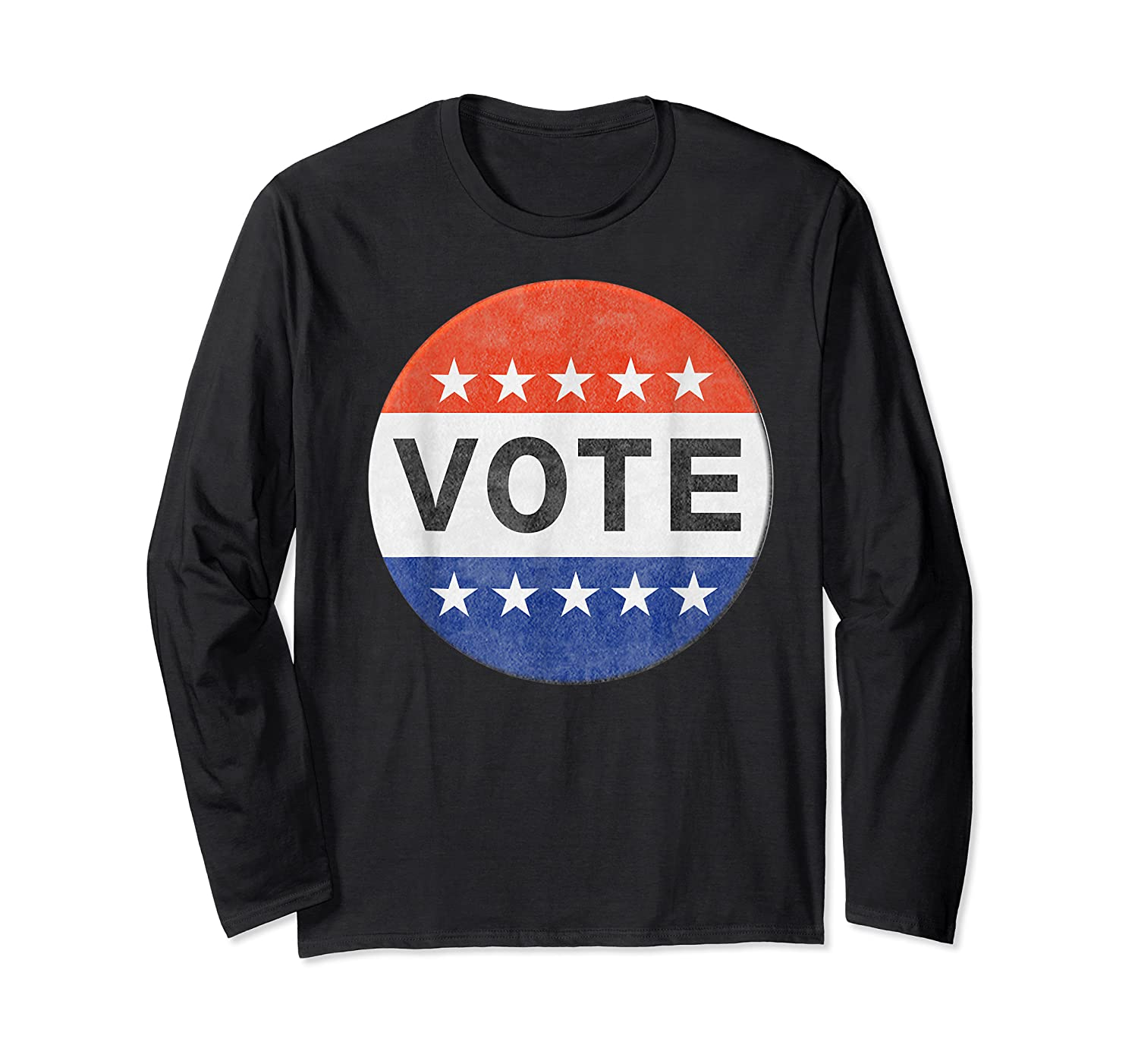 Vote Distressed Design Political Us Election 2020 T Shirt Long Sleeve T-shirt