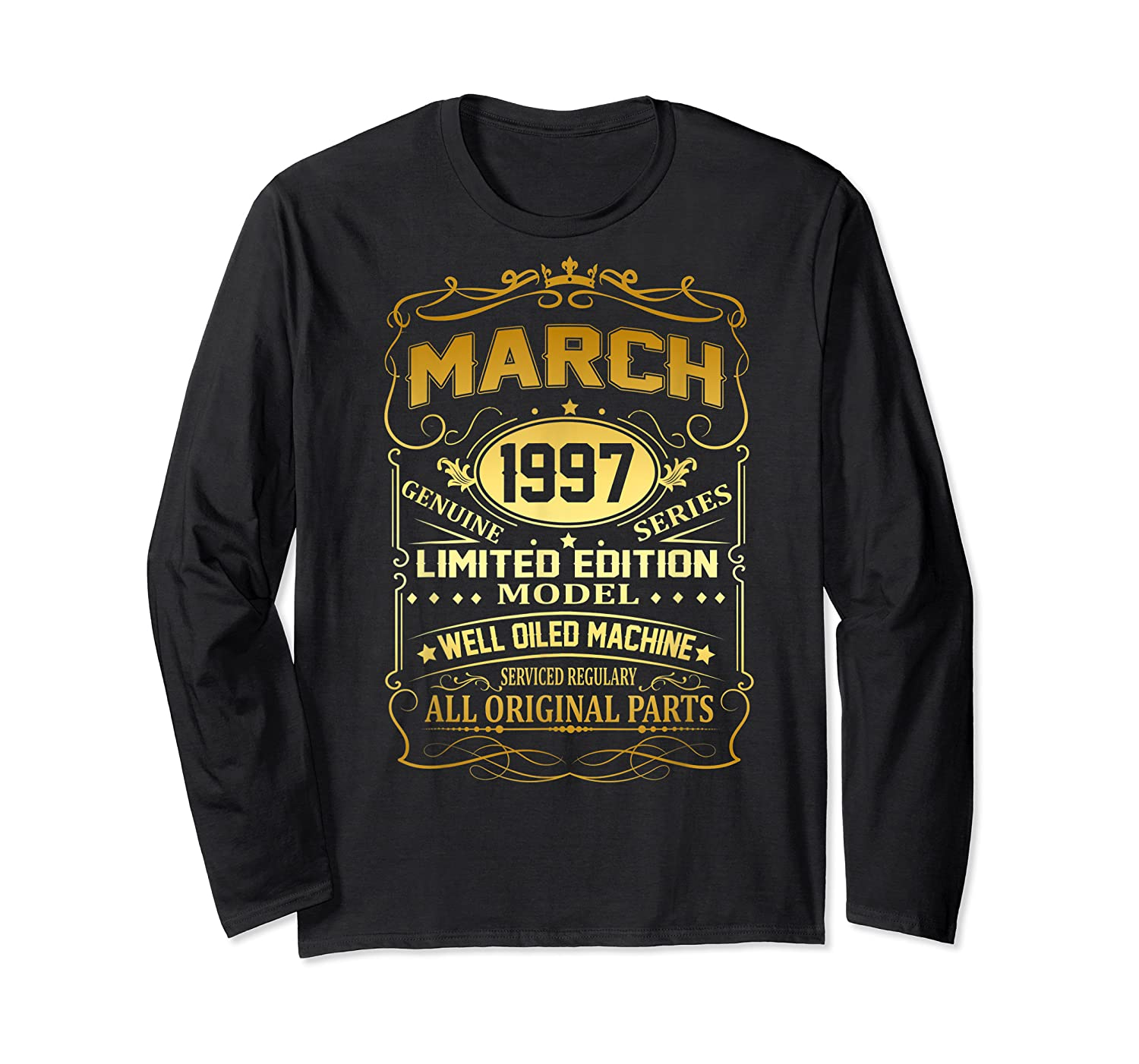 March 1997 Vintage 22nd Birthday 22 Years Old Gif Shirts Long Sleeve T-shirt