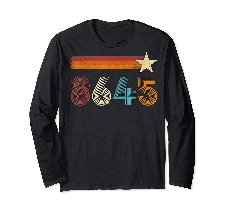 Vintage 86 45 Impeach Trump Anti Trump T Shirt Long Sleeve T-shirt