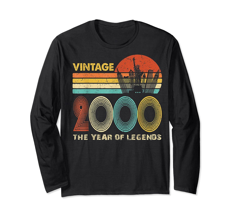 19th Birthday Gift Vintage 2000 T-shirt 19 Years Old T-shirt Long Sleeve T-shirt
