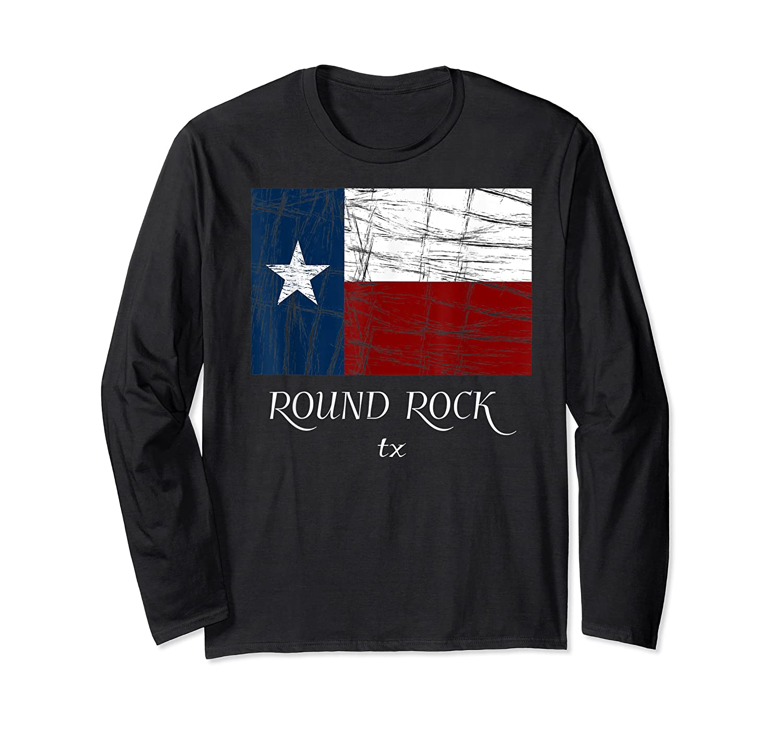 Texas Flag City State Shirts Long Sleeve T-shirt