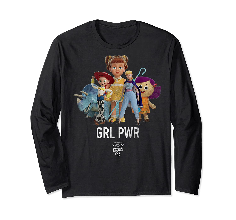 Disney Pixar Toy Story 4 Grl Pwr Distressed T-shirt Long Sleeve T-shirt