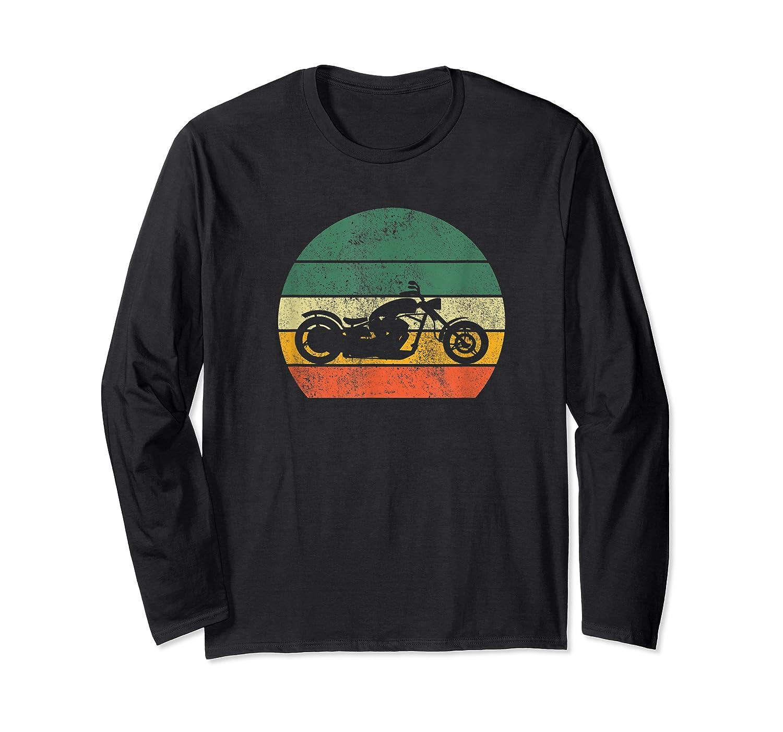 Biker Retro T-shirt Colorful Vintage Gift Idea Long Sleeve T-shirt