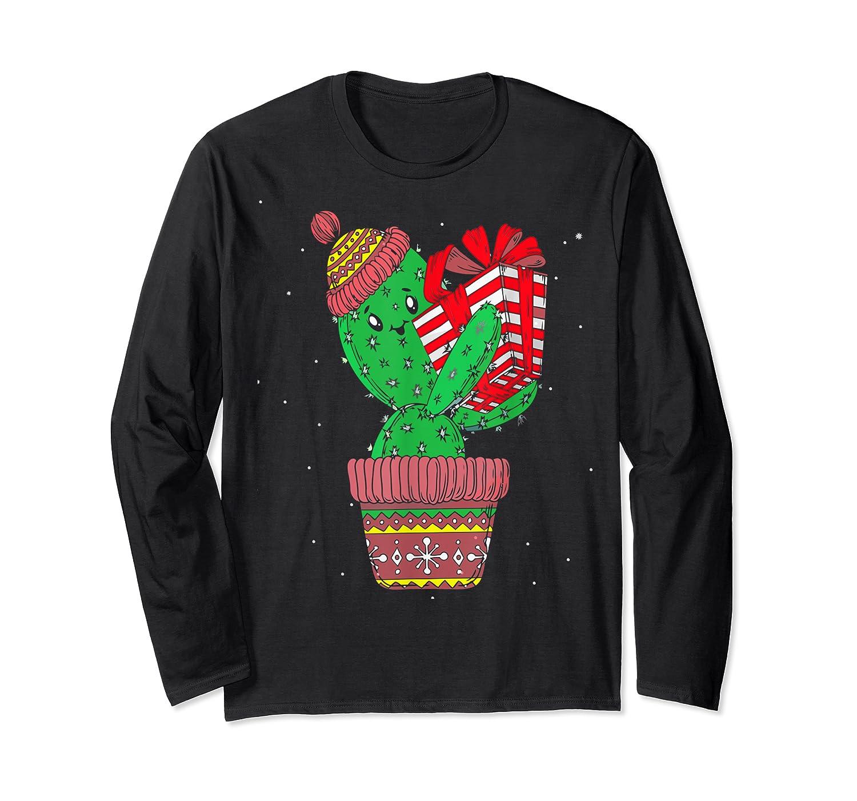 Cactus Christmas Tree Gift Santa Xmas Succulent Plant Lover T-shirt Long Sleeve T-shirt
