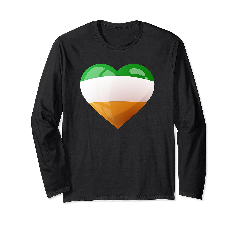Cute Heart Ireland Flag Celtic Saint Patrick Day T Shirt