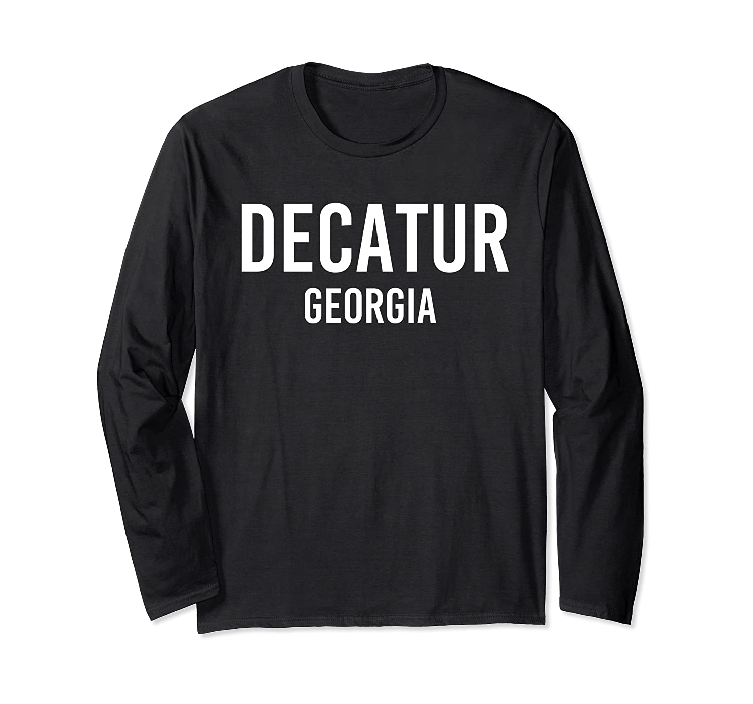 DECATUR GEORGIA GA USA Patriotic Vintage Sports Long Sleeve T-Shirt