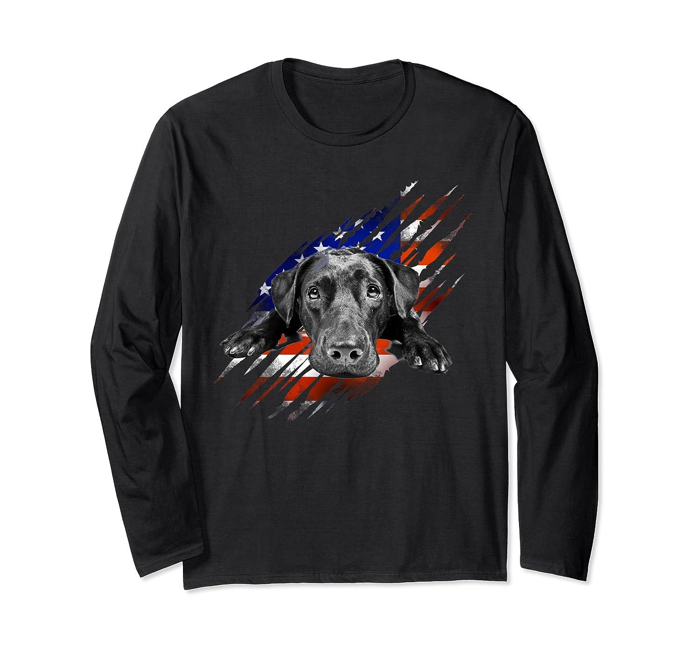 Black Labrador Usa Flag Lab Owner Bird Duck Hunter Gift Shirts