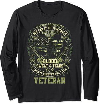 Vietnam Veteran Gift Blood Sweat Tears Vietnam Veteran T-shirt