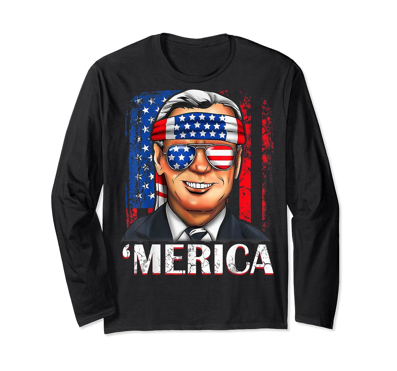 Joe Biden 2020 Merica 4th Of July Independence Day Usa T Shirt Long Sleeve T-shirt