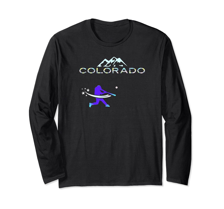 Colorado Rocky Mountain Hometown Baseball Player Shirts Long Sleeve T-shirt