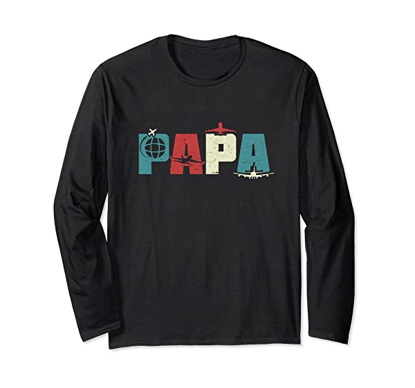 Papa Pilot Funny Dad Aviation Flying Airplane Lovers Gifts T Shirt