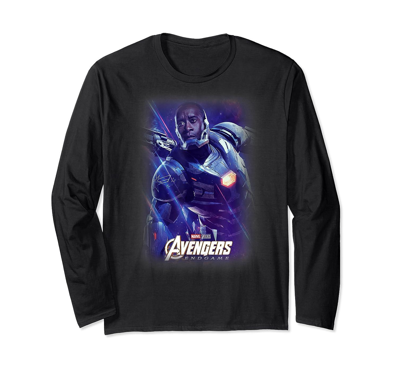 Marvel Avengers Endgame War Machine Galactic Poster T-shirt Long Sleeve T-shirt