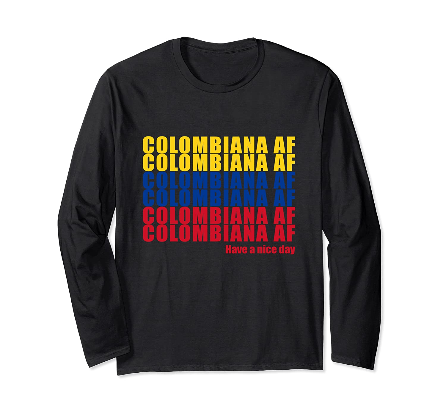 Colombiana Af Colombia Flag Colombian Roots T-shirt