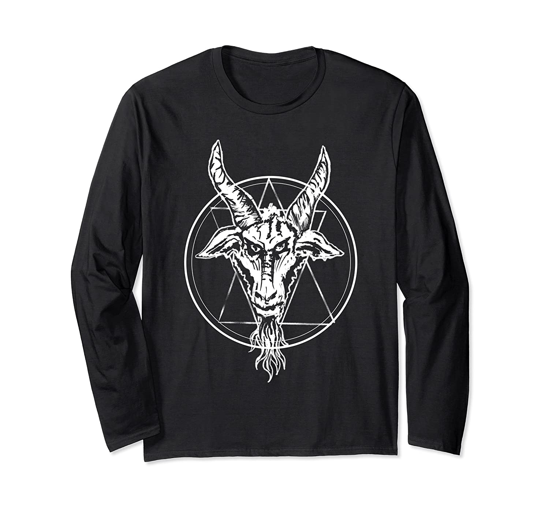 Baphomet Goat Occult Goth Punk Design Long Sleeve T-Shirt