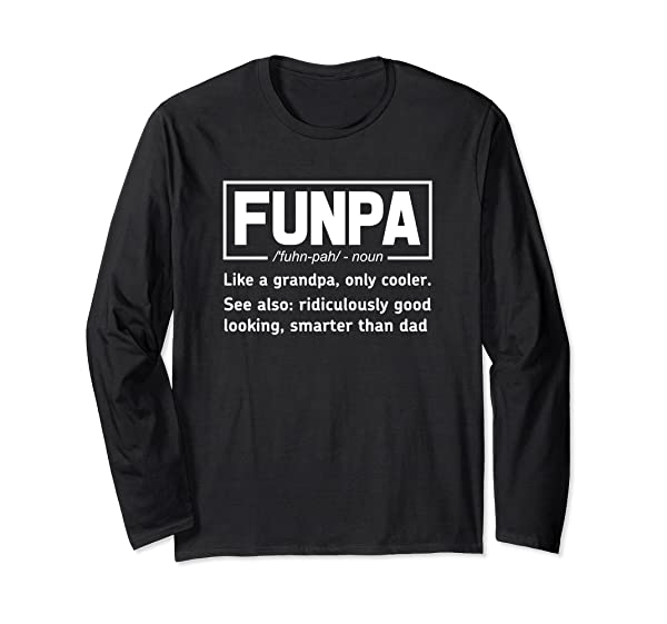 Funny Funpa Shirt Grandpa Definition T Shirt