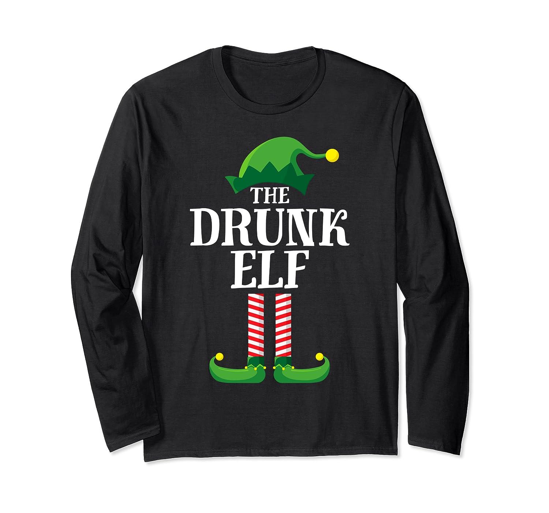 Drunk Elf Matching Family Group Christmas Party Pajama Shirts