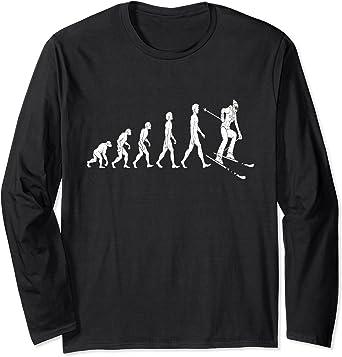 Evolution Ski T-SHIRT Skiing funny clothing skiing gear tee Birthday gift top