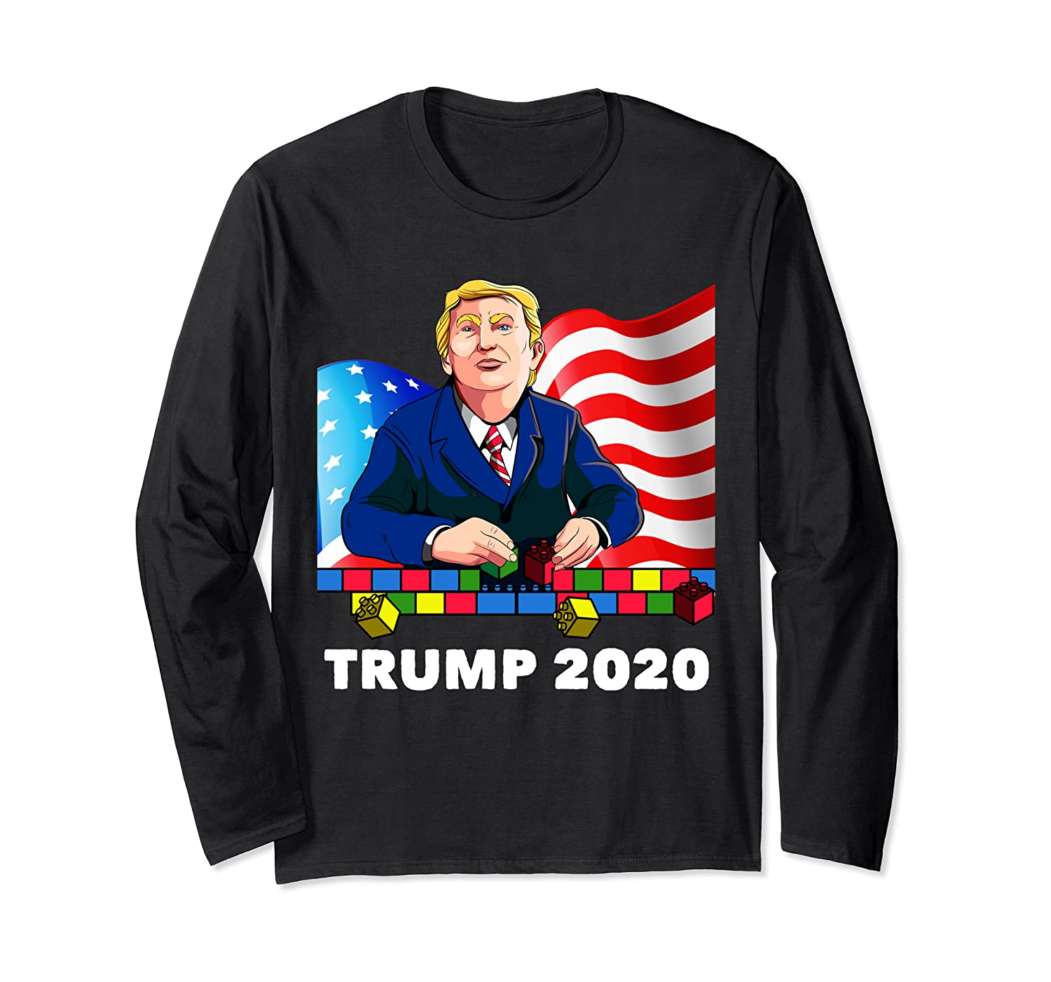 Trump 2020 Elections Build The Wall Long Sleeve T-Shirt
