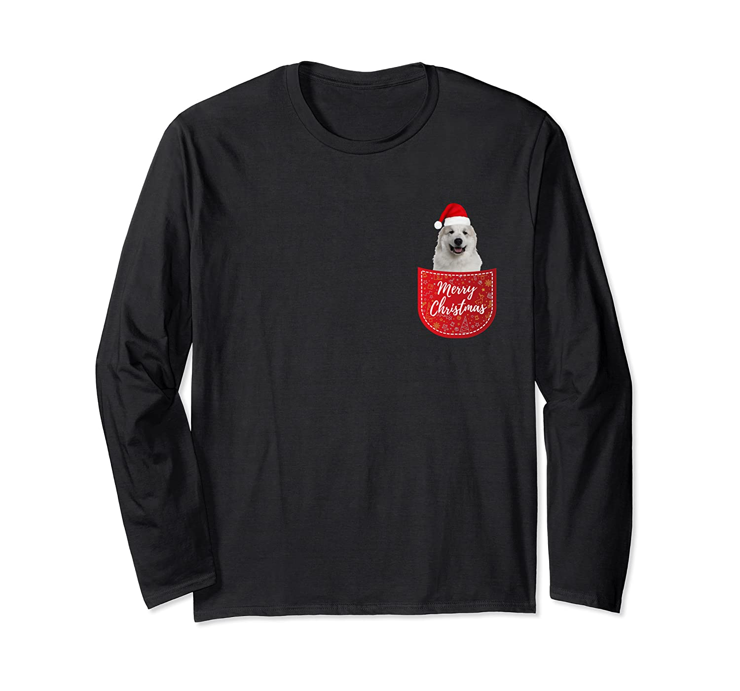 Great Pyrenees Christmas Dog In Your Pocket Long Sleeve T-Shirt-Cotoa