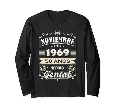 Amazon.com: Camisa Noviembre 1969 50 Anos Siendo Genial ...