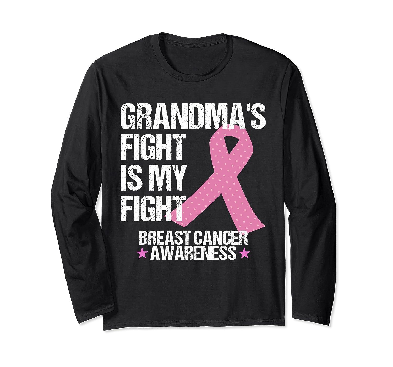 Breast Cancer Awareness Month Grandmas Fight Grandma Gift T Shirt