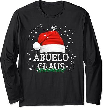 Abuelo Claus Pijama Familia Divertido Regalo Navidad Abuelos Manga Larga